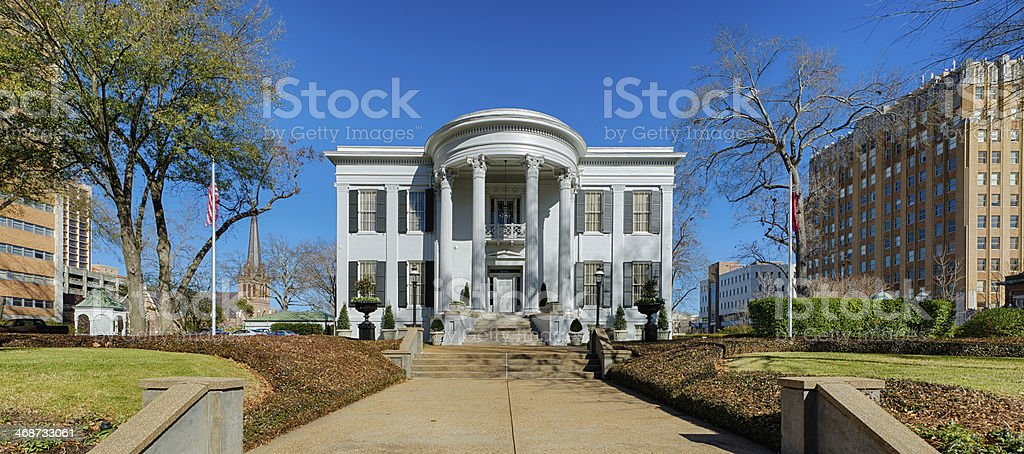 Mississippi Governor's mansion stock photo
