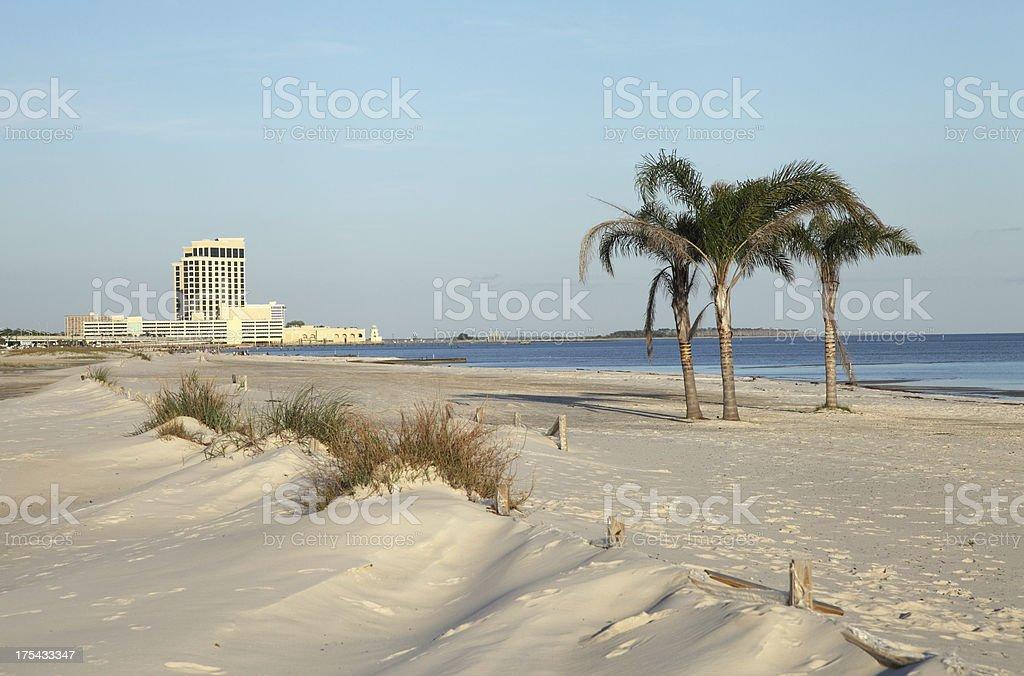 Mississippi Gulf Coast Beach stock photo