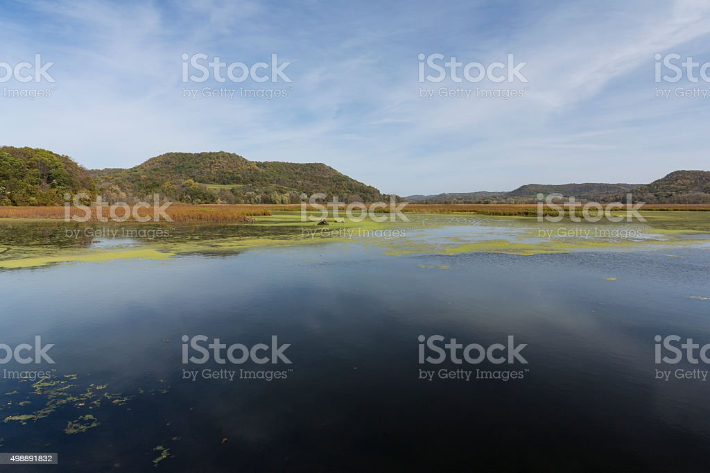 Mississippi River Backwaters stock photo