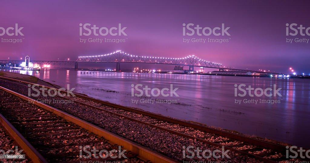 Mississippi River Bridge stock photo
