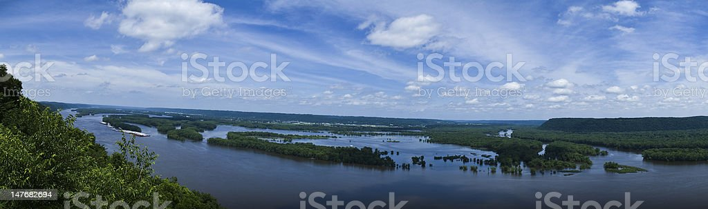 Mississippi River from Pikes Peak royalty-free stock photo