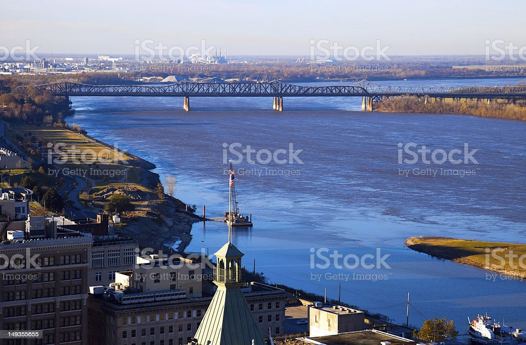 Mississippi River in Memphis stock photo