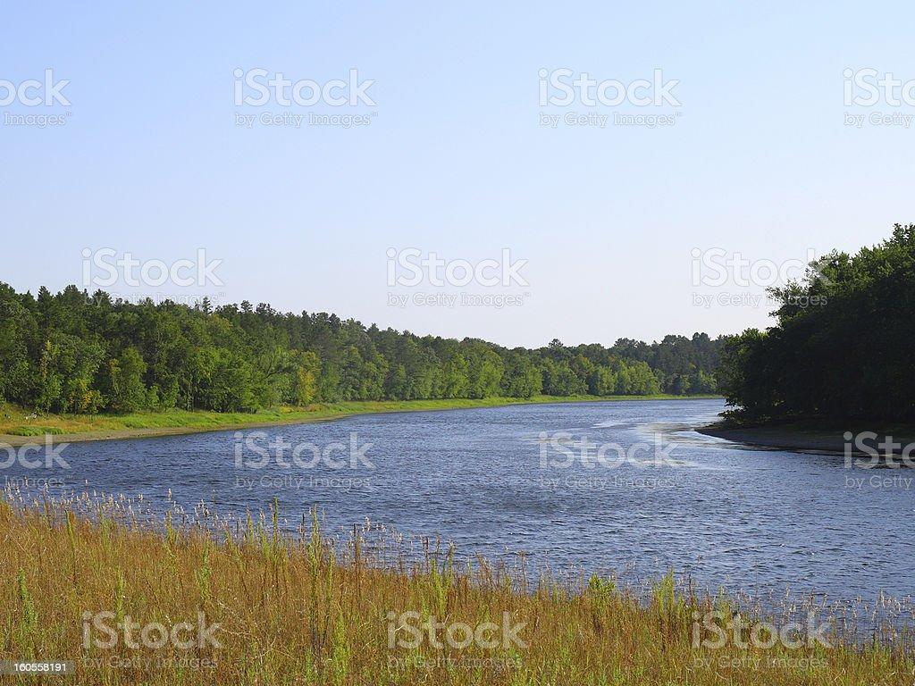 Mississippi river near St Cloud, Minnesota stock photo