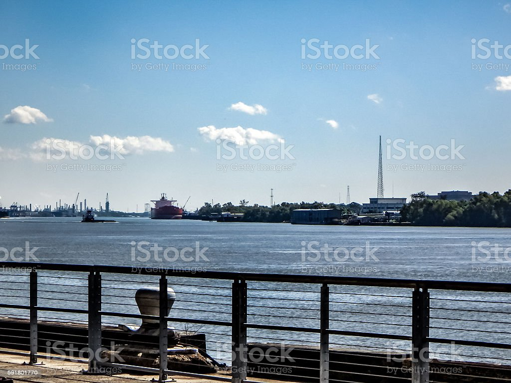 Mississippi River New Orleans shipping stock photo