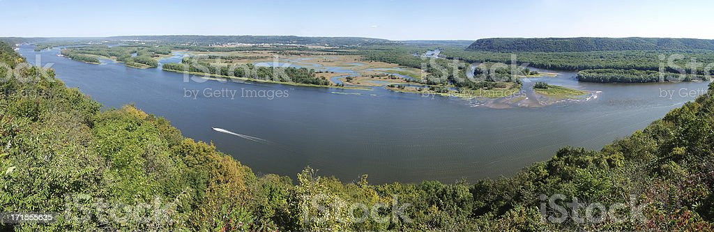 Mississippi River Panorama royalty-free stock photo