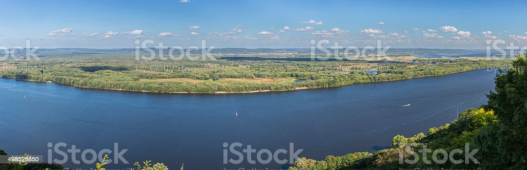 Mississippi River Panorama stock photo