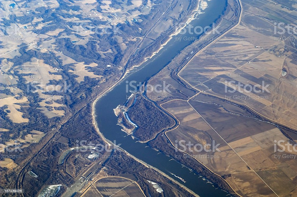 Mississippi River USA royalty-free stock photo
