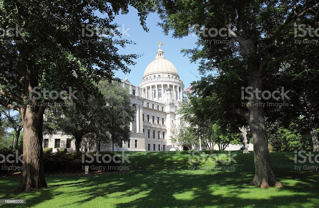 Mississippi State Capitol stock photo