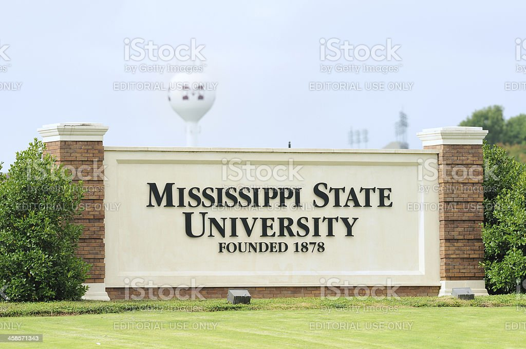 Mississippi State University sign stock photo
