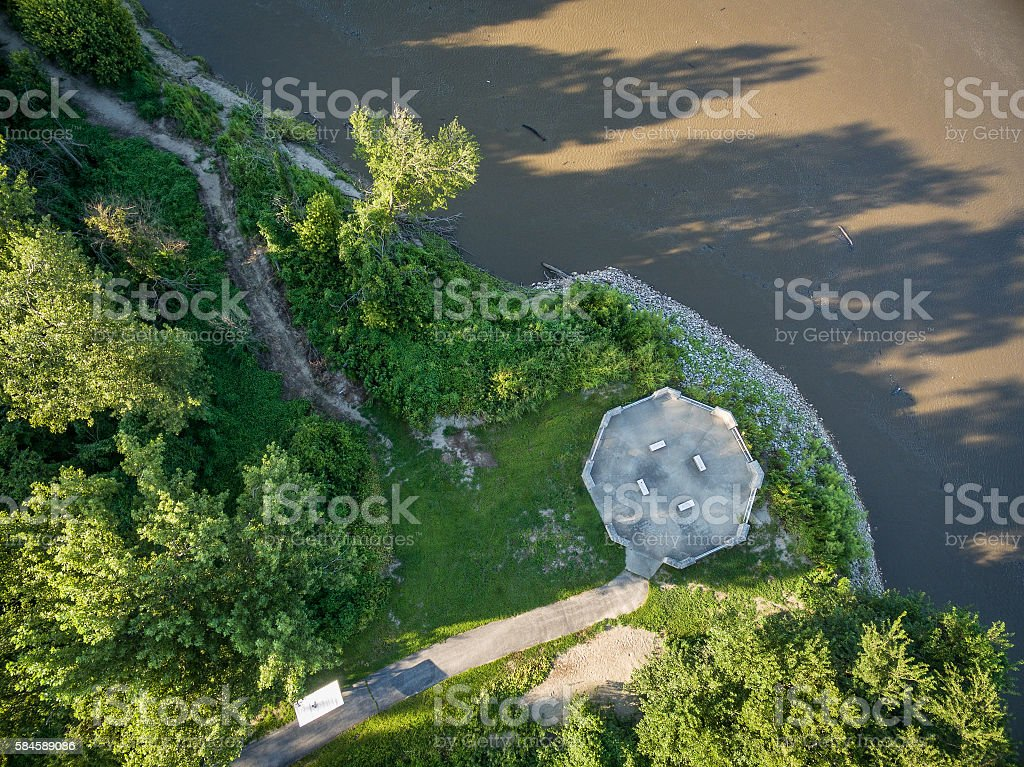 Missouri and Mississippi RIvers confluence stock photo