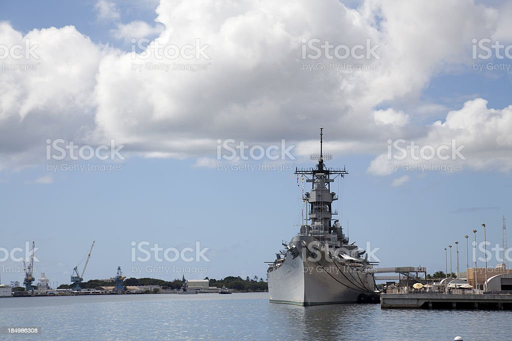 USS Missouri at Pearl Harbour stock photo