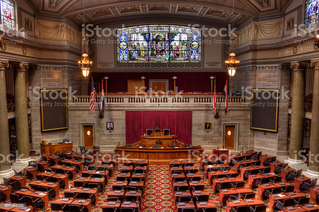 Missouri House of Representatives Chamber stock photo