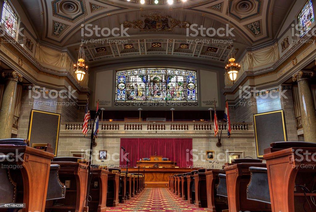 Missouri House of Representatives Chamber stock photo