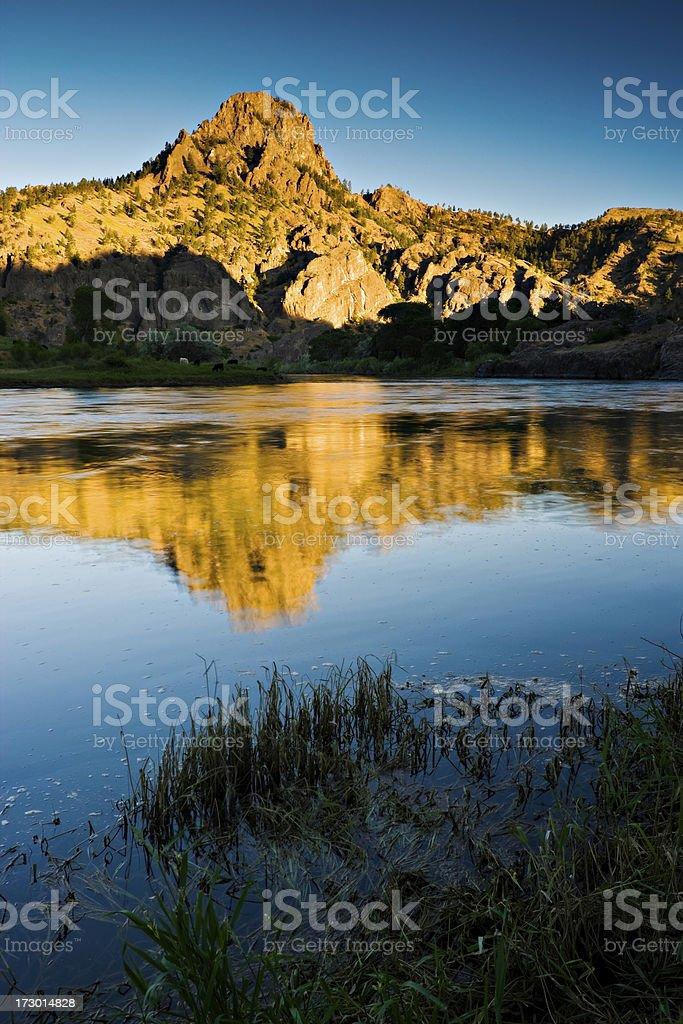 Missouri River and Chisholm Peak stock photo