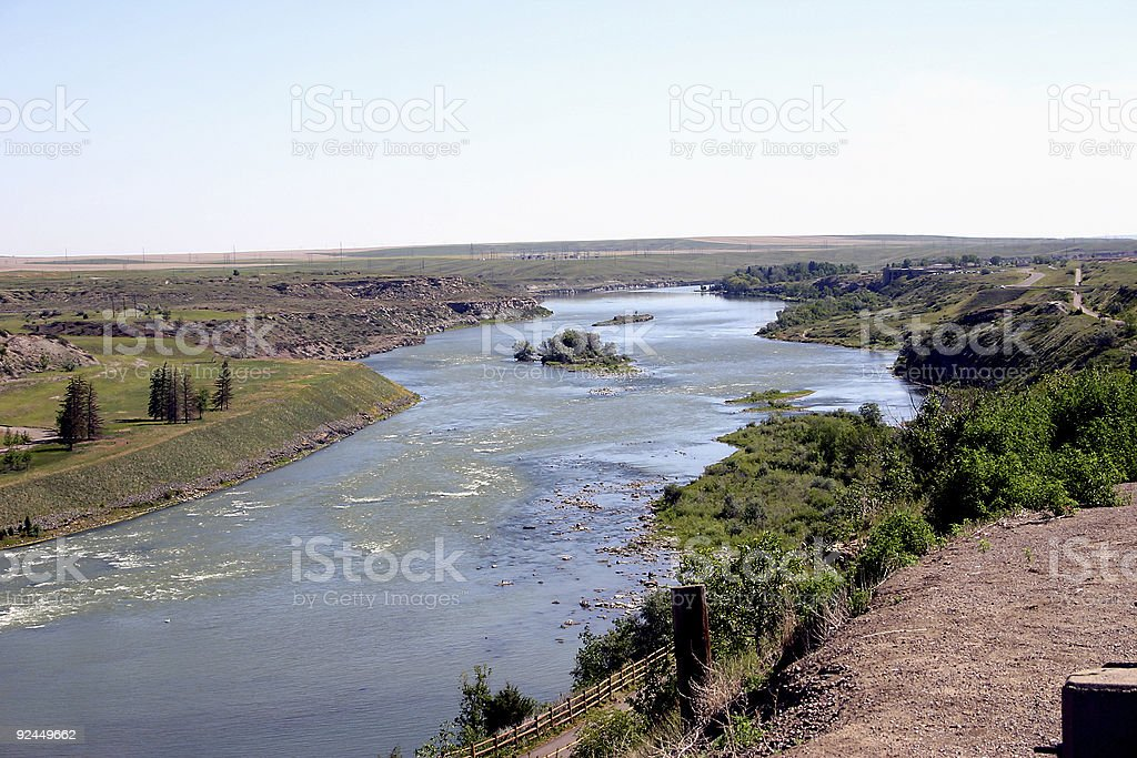 Missouri River from the Lewis & Clark Center stock photo