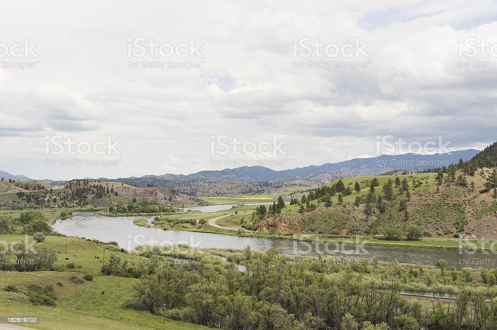 Missouri River in Montana stock photo