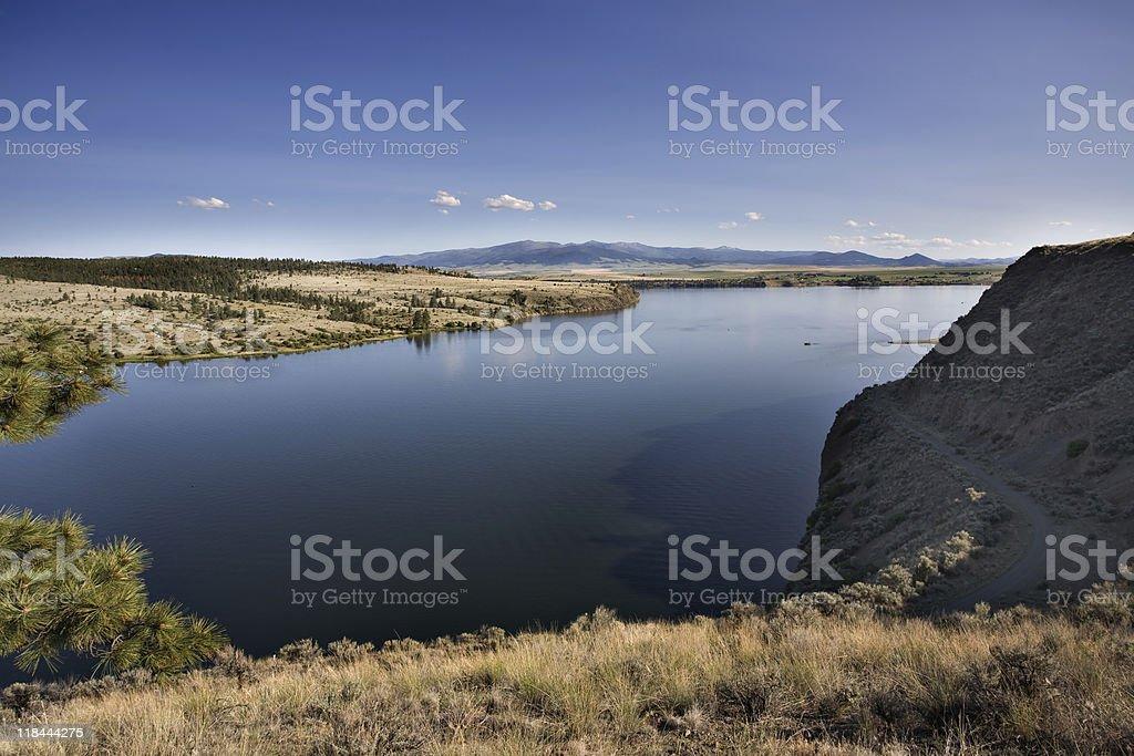 Missouri River near Helena Montana stock photo