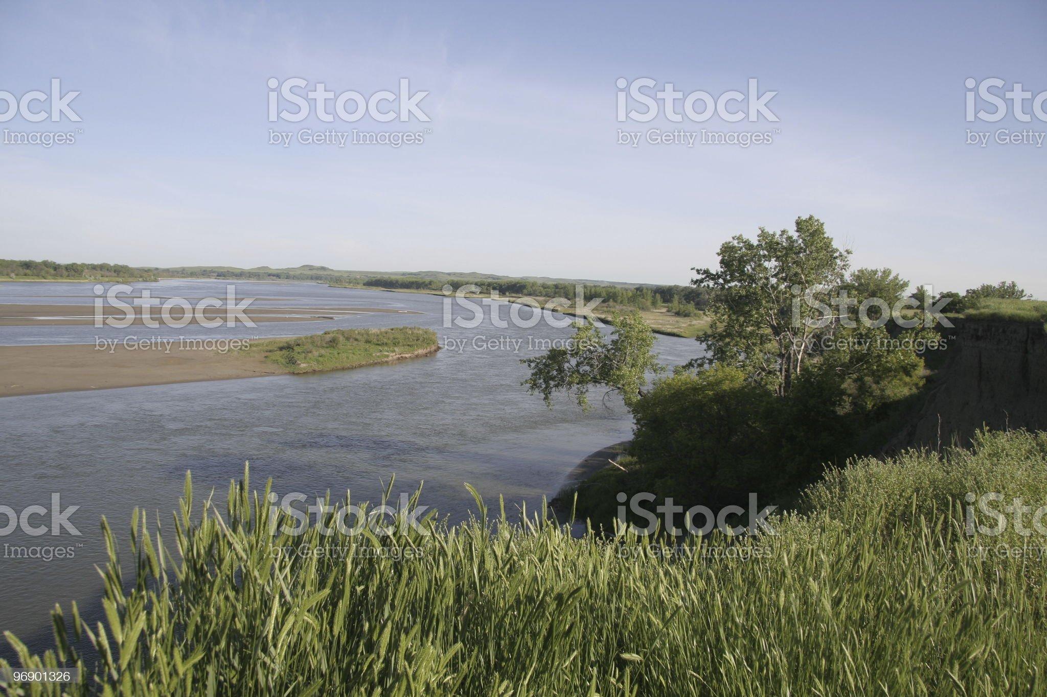 Missouri River Overlook royalty-free stock photo