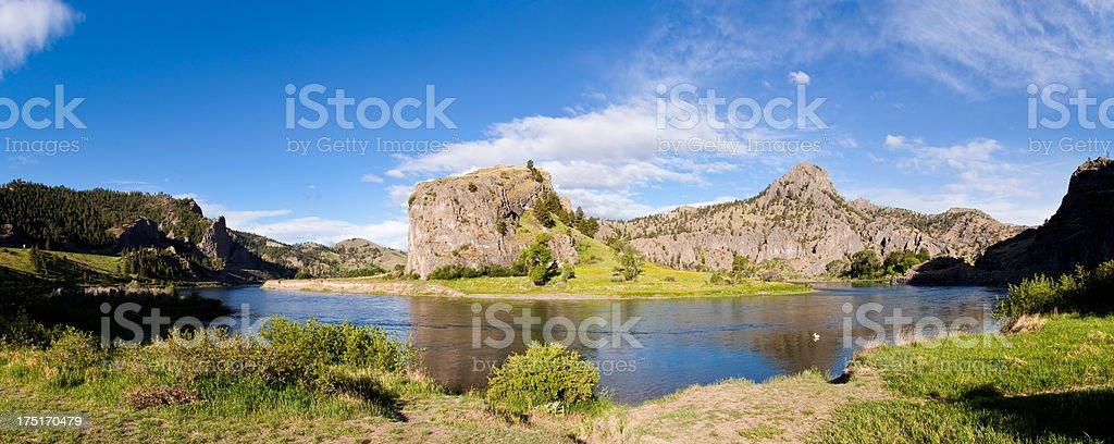 Missouri River Panoramic stock photo