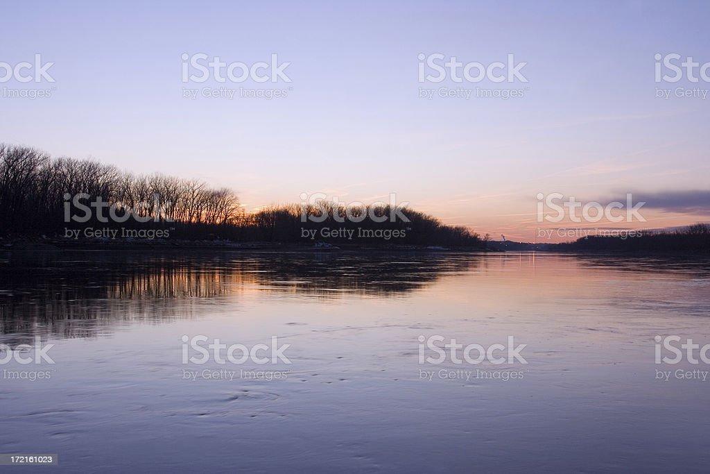 Missouri River royalty-free stock photo