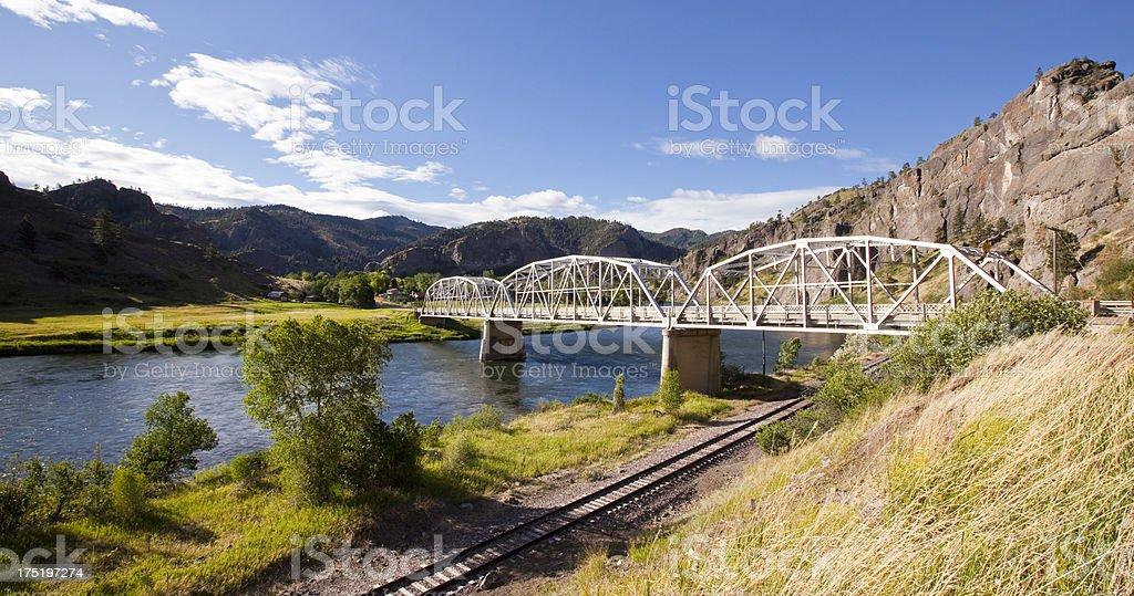 Missouri River Railroad stock photo