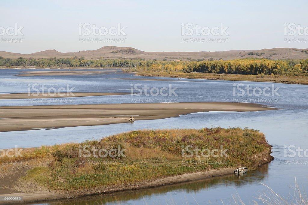Missouri River Sand Bars stock photo