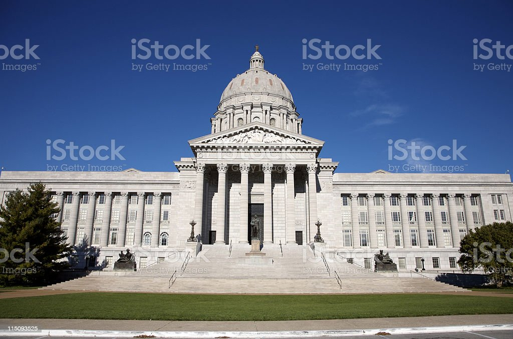 Missouri state capitol - Jefferson City stock photo