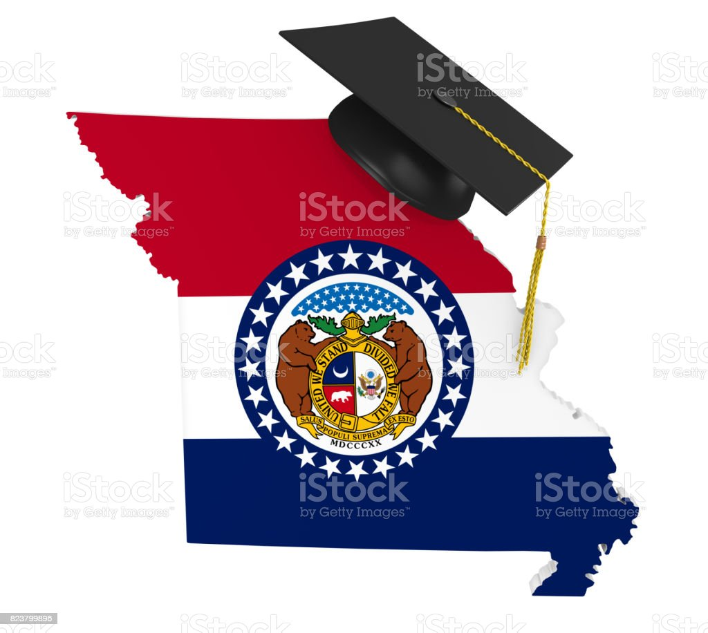 Missouri state college and university education concept, 3D rendering stock photo