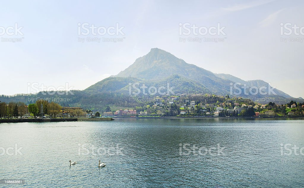 Mist above Alp. royalty-free stock photo