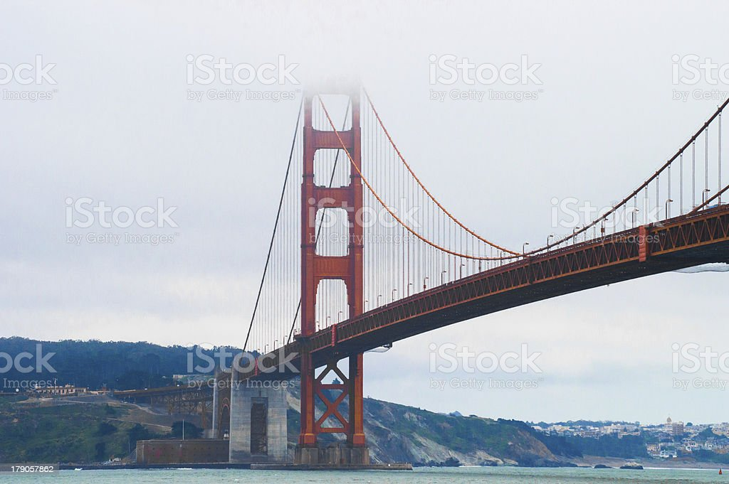 Mist and golden gate bridge royalty-free stock photo