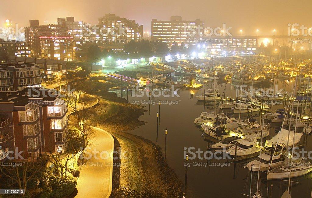 Mist and Marina royalty-free stock photo