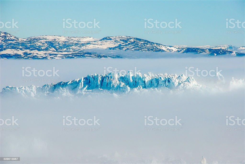 Mist around the Icebergs stock photo