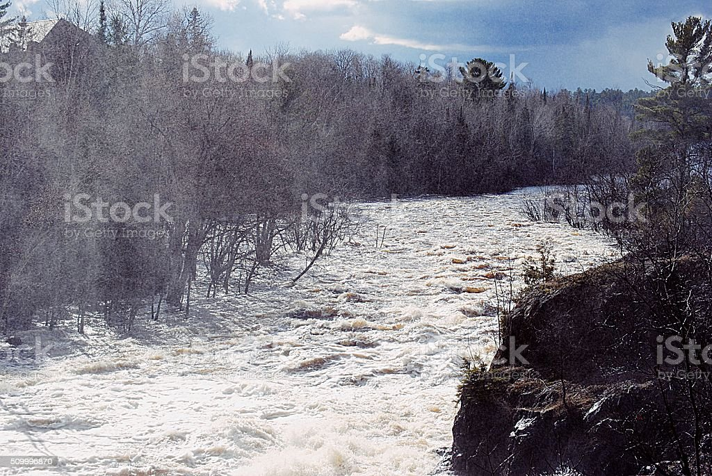 Mist from the falls royalty-free stock photo