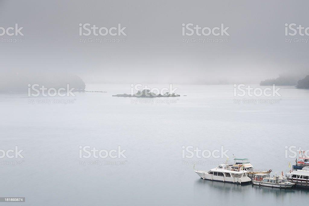 Mist Lake stock photo