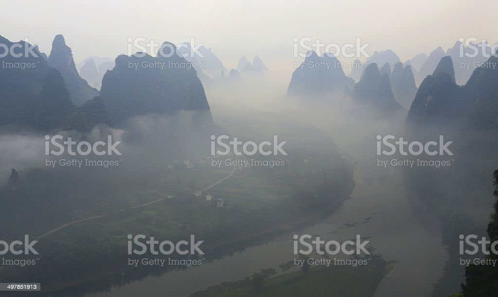 Mist Lijiang royalty-free stock photo