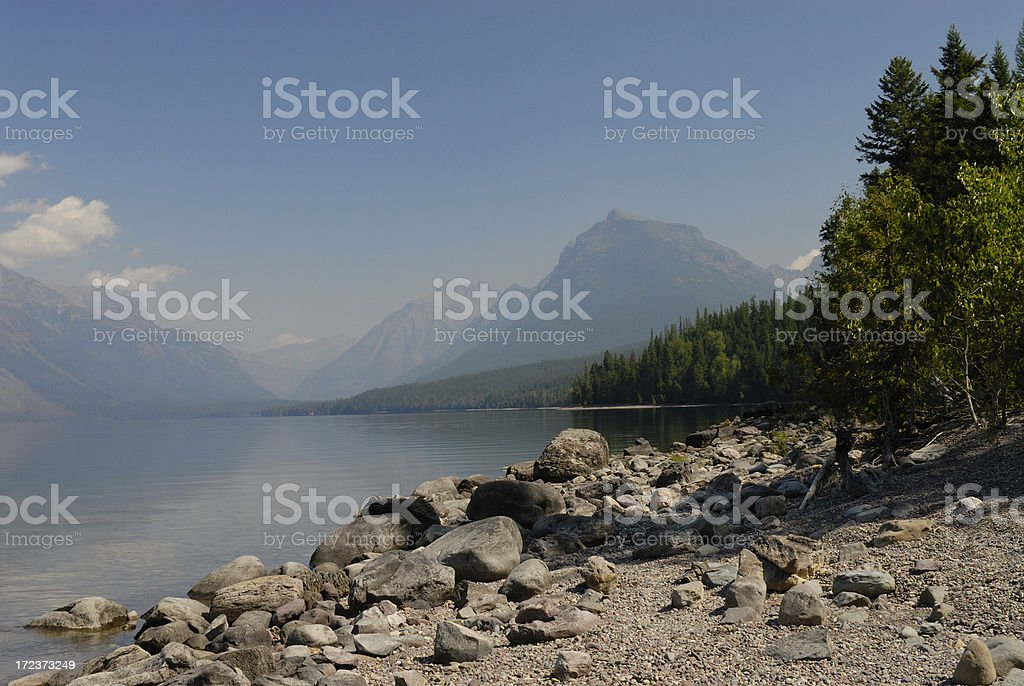 Mist Morning over the Lake royalty-free stock photo
