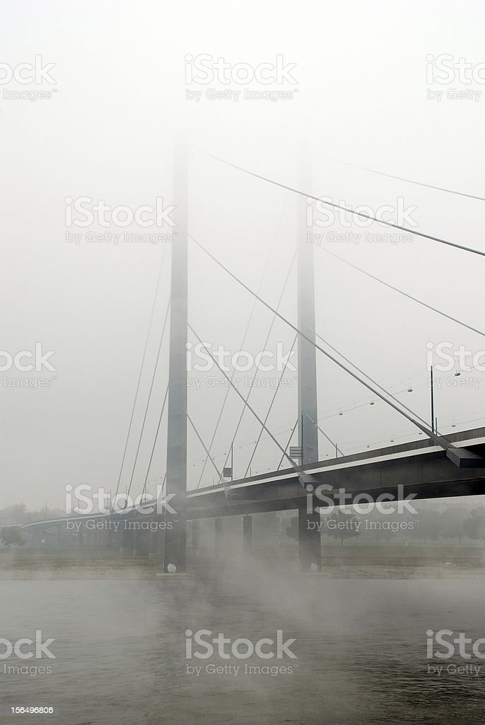 Mist on the Rhine royalty-free stock photo