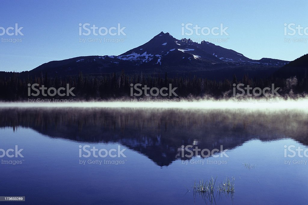 Mist over Sparks Lake stock photo