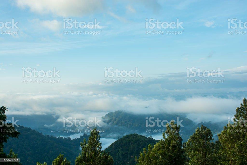 Mist Shrouded Mountains stock photo