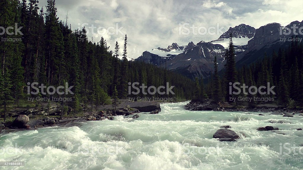 Mistaya Canyon in Banff National Park stock photo