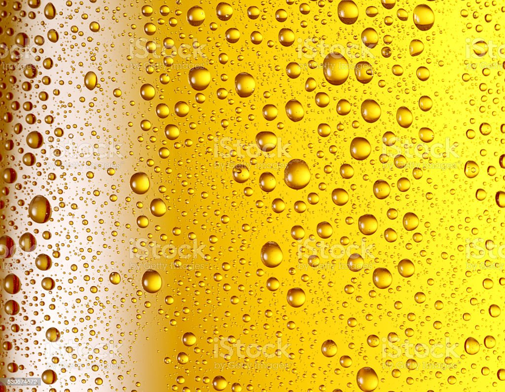 Misted glass of beer. stock photo