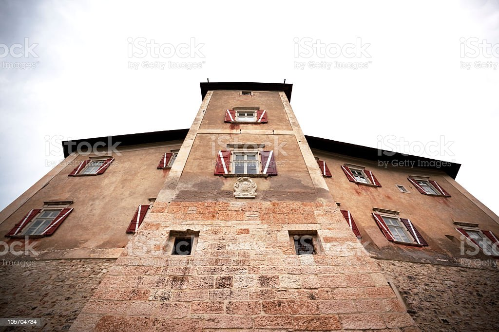 Misterious Castle of Thun in Val di Non, Italy royalty-free stock photo