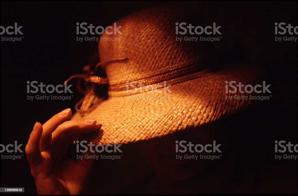 Misterious greeting royalty-free stock photo