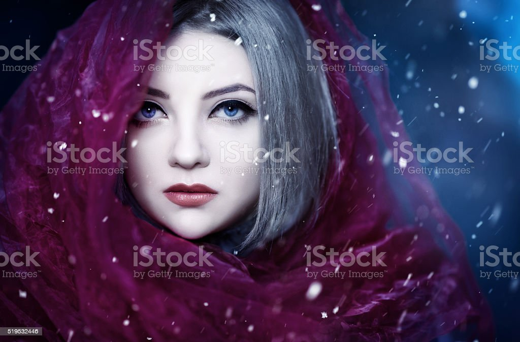 misterious look stock photo