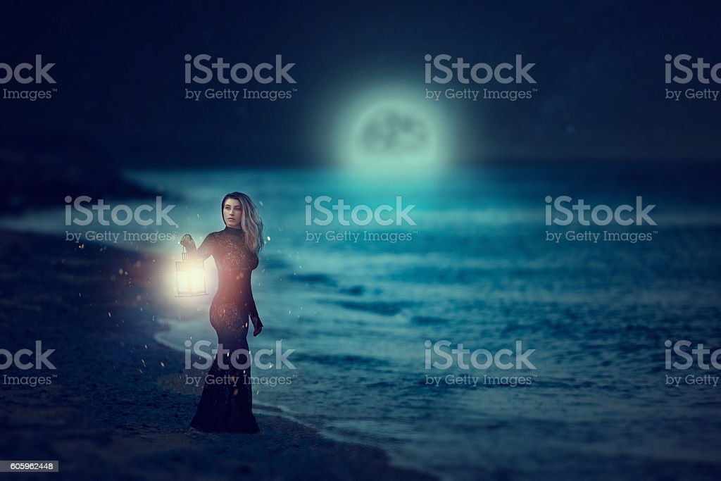 misterious thoughts stock photo