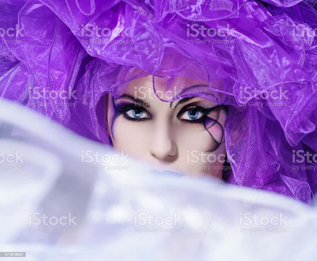 misterious woman royalty-free stock photo