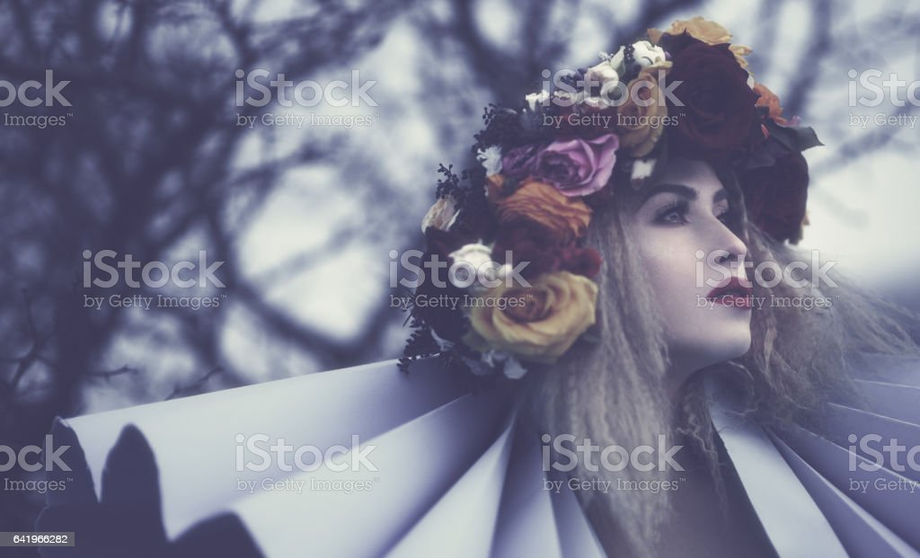 misterious woman stock photo
