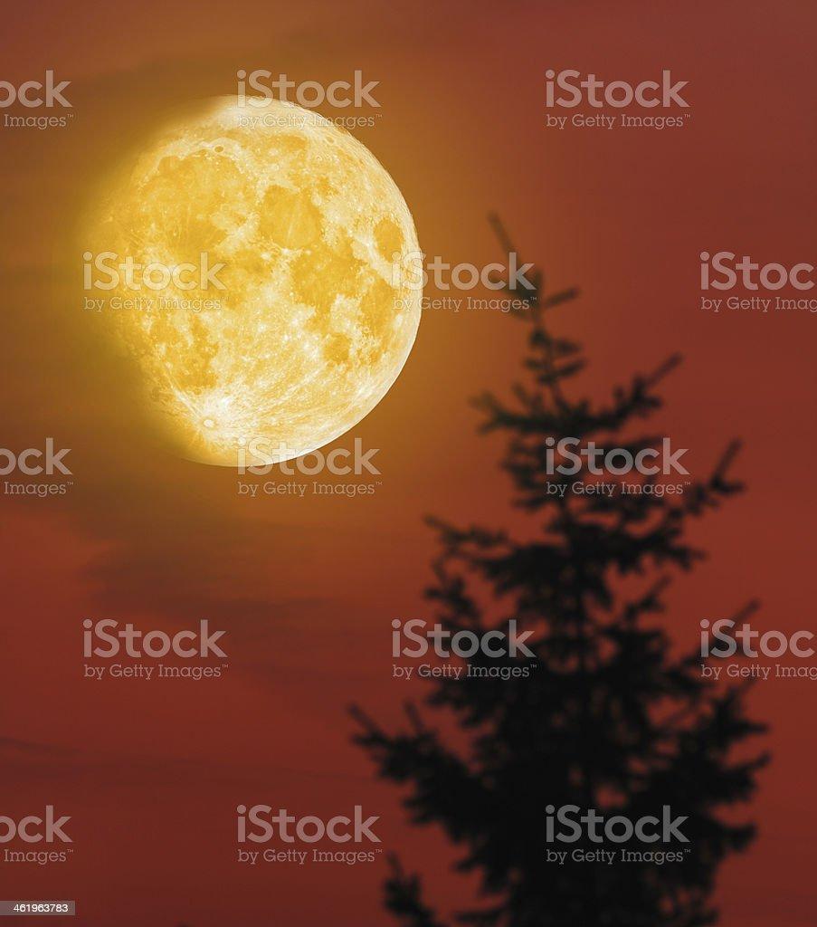 Mistery Moon stock photo