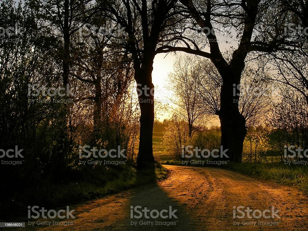 mistic road stock photo