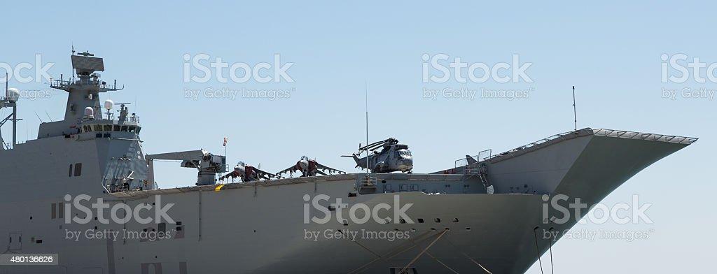 Mistral-class amphibious assault ship stock photo